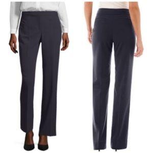 Liz Claiborne Black Audra Straight Leg Work Pants